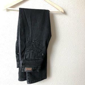 Levi's Women's 505 Straight Legs Black Wash Sz 2M